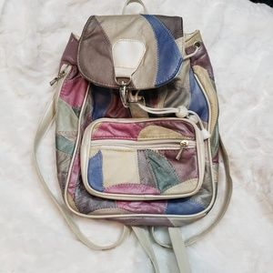 Vintage 90 s patchwork mini backpack 2fd421e73f81b